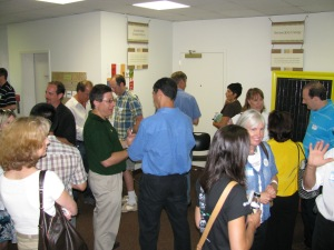 Friends of Bethesda Green gather at the Incubator Orientation July 14.