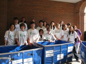 Recycling Team gathers before taking to the streets at the Taste of Bethesda October 3, 2009.