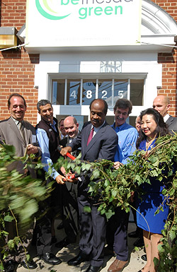 The ribbon-cutting at Bethesda Green, October 1.