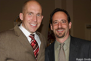 State Delegate Tom Hucker and Bethesda Green Executive Director Dave Feldman