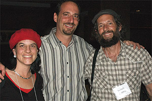 Dave Feldman, center, with Israeli environmentalists