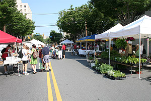 The Bethesda FreshFarm Market is open Saturday mornings on Norfolk Ave.