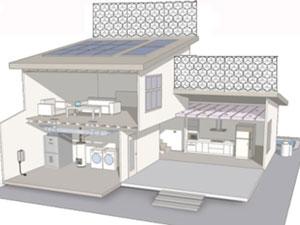Solar house with BreezBee® Wind Panels